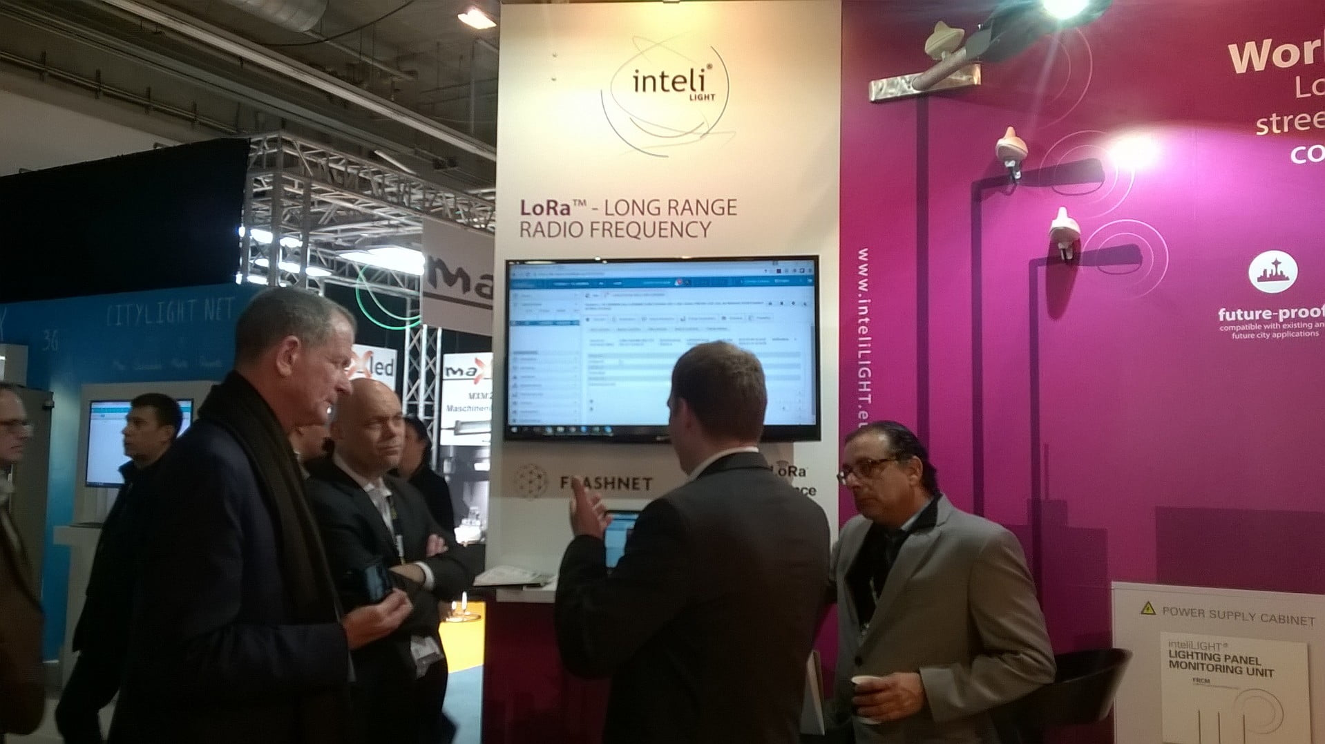 inteliLIGHT® Lora™ streetlight control was the main attraction in Frankfurt