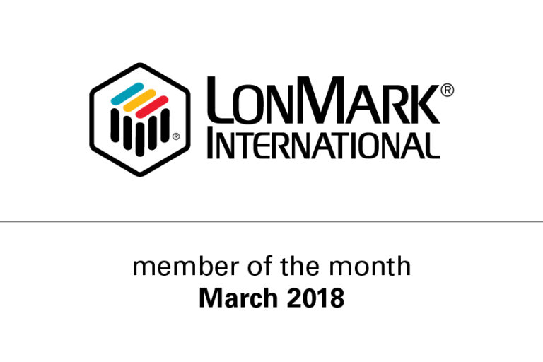 Flashnet, appointed member of the month by LonMark International in March 2018
