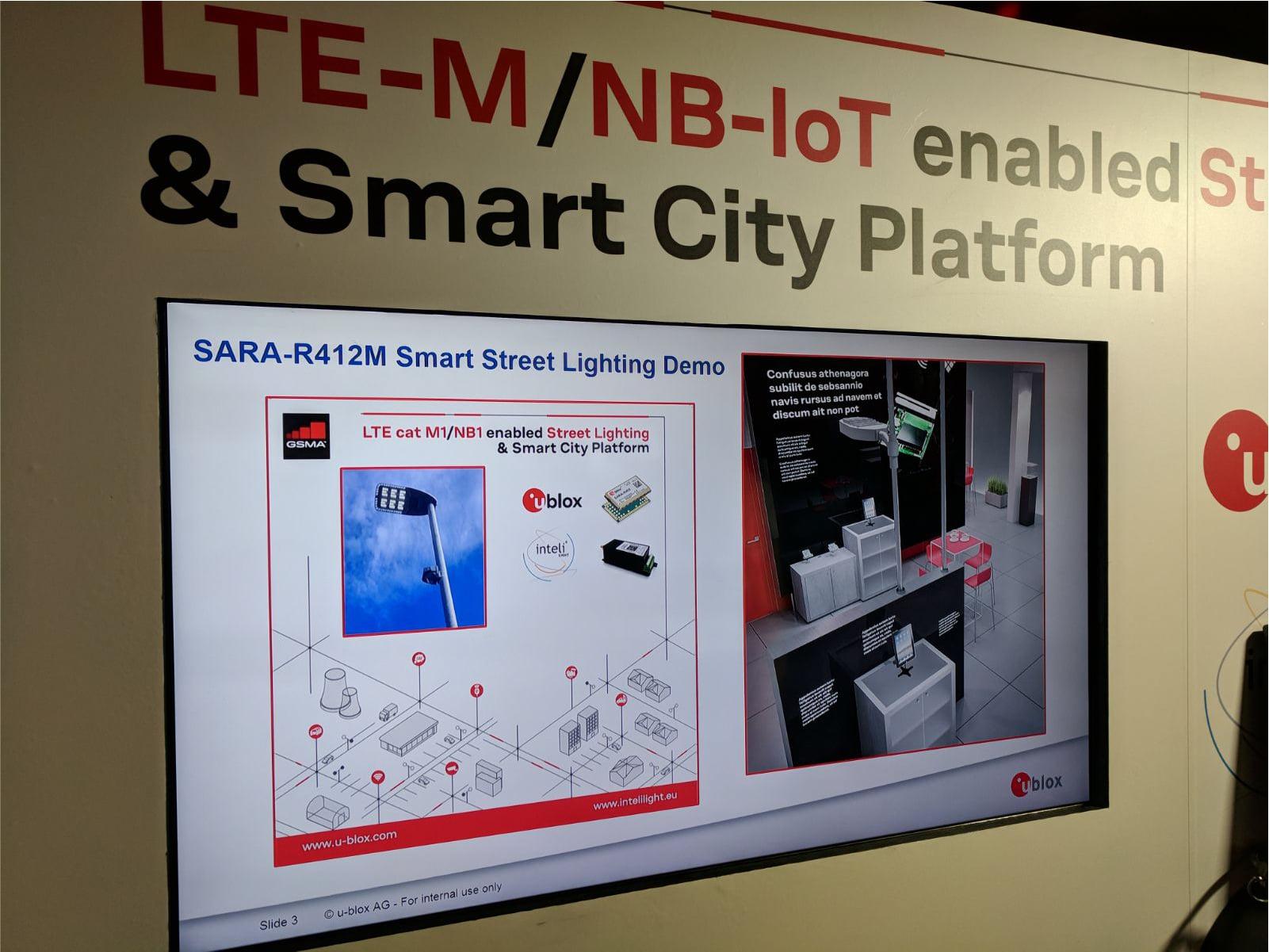 inteliLIGHT streetlight control solution during Mobile World Congress 2018_U-Blox